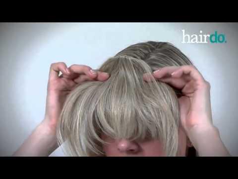 Hairdo Clip In Bangs Youtube