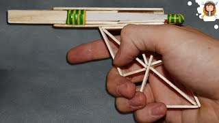 How To Make A Rubber Band Gun Using Popsicle Sticks