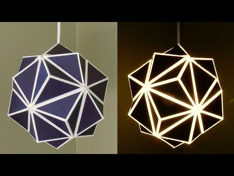 Geometric lamp - how to make a geometric paper lampshade - EzyCraft
