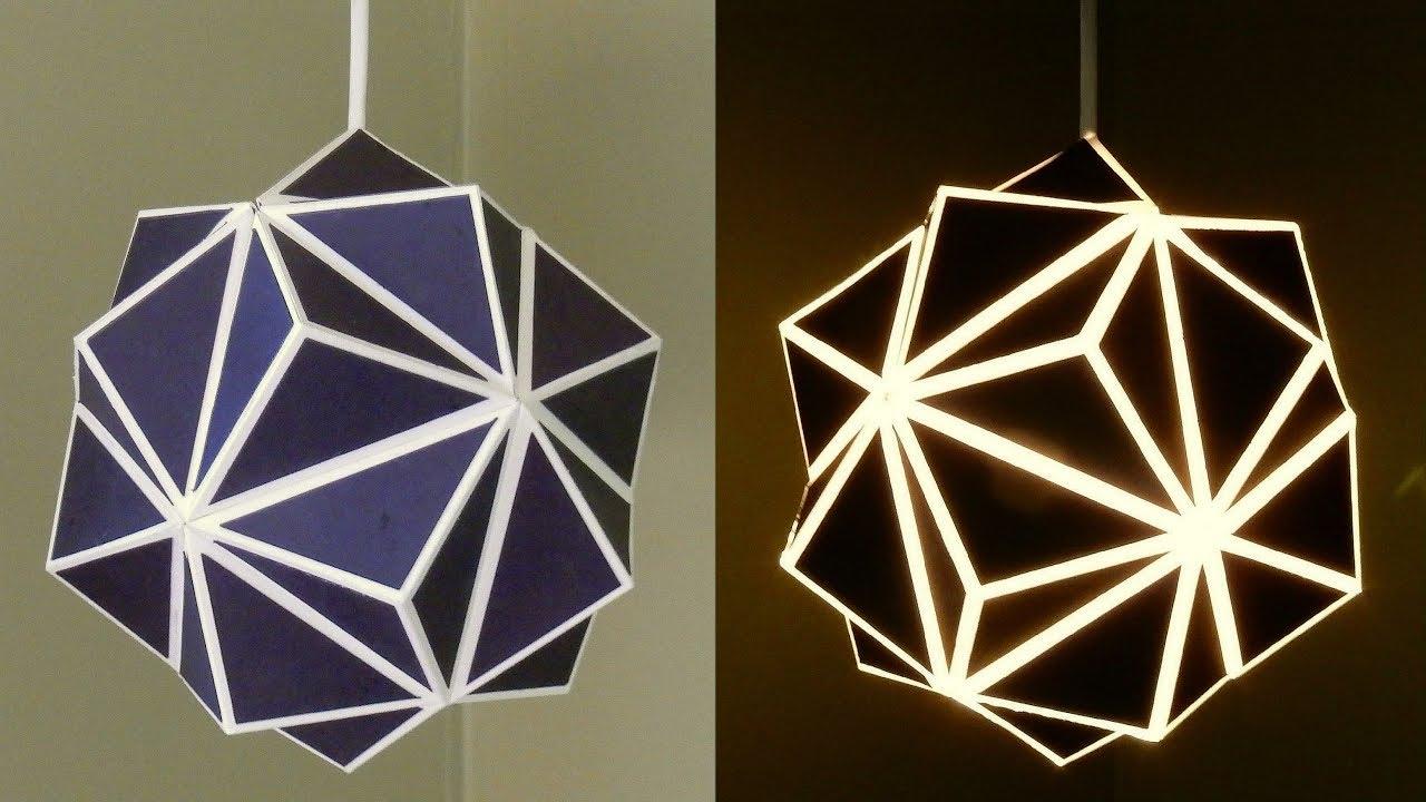 Geometric Lamp How To Make A Geometric Paper Lampshade Ezycraft