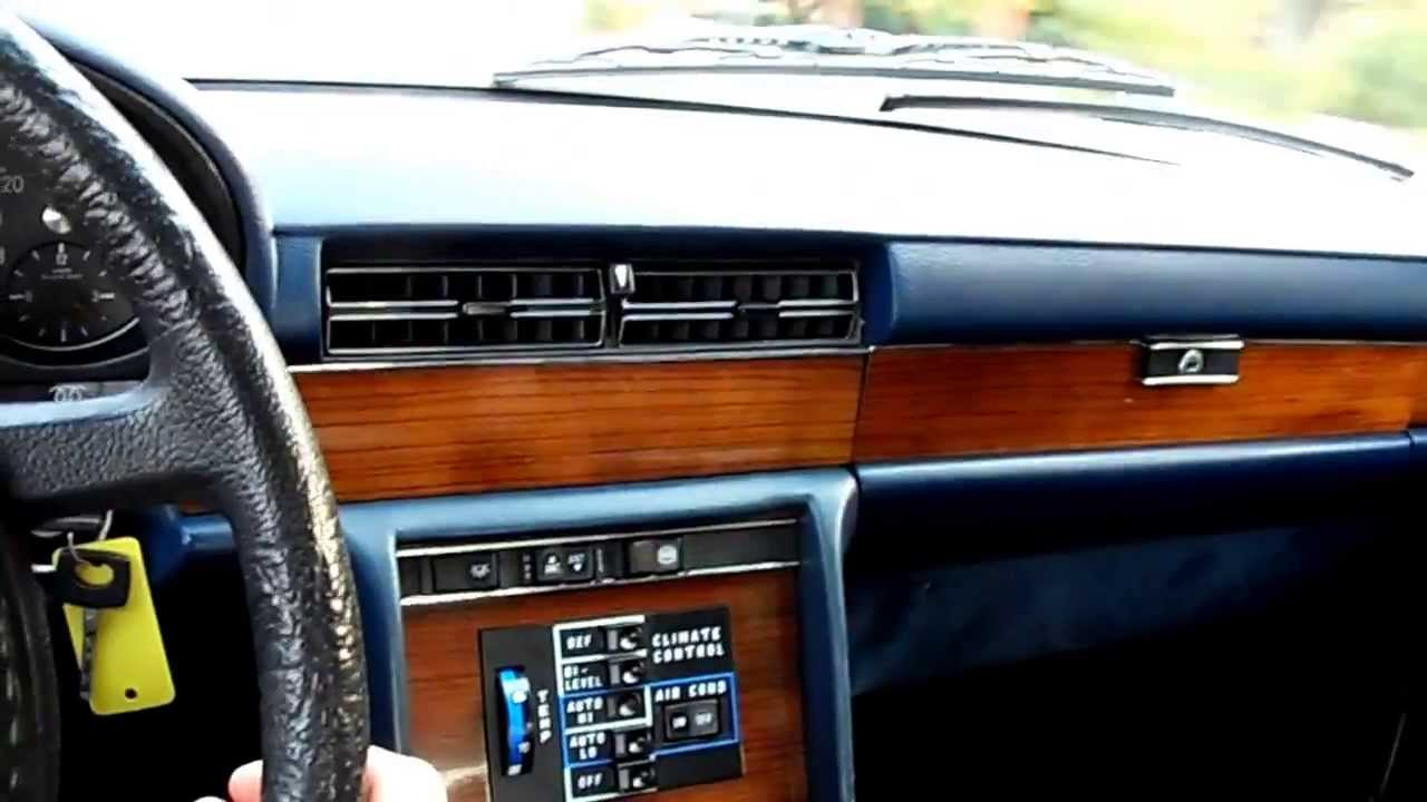 1980 Mercedes 300sd W116 Climate Control And Stereo