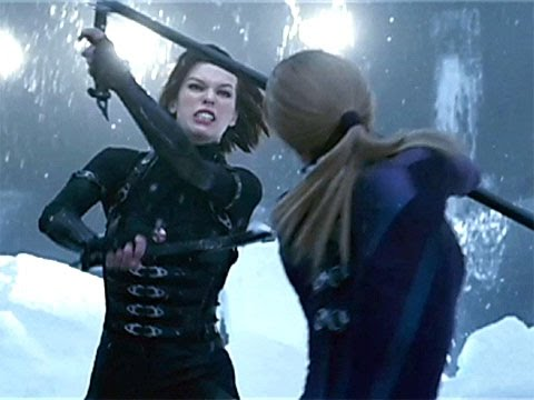 Resident Evil Retribution Alice Vs Jill Valentine Youtube