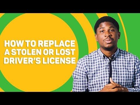 How To Replace A Stolen Or Lost Driver's License
