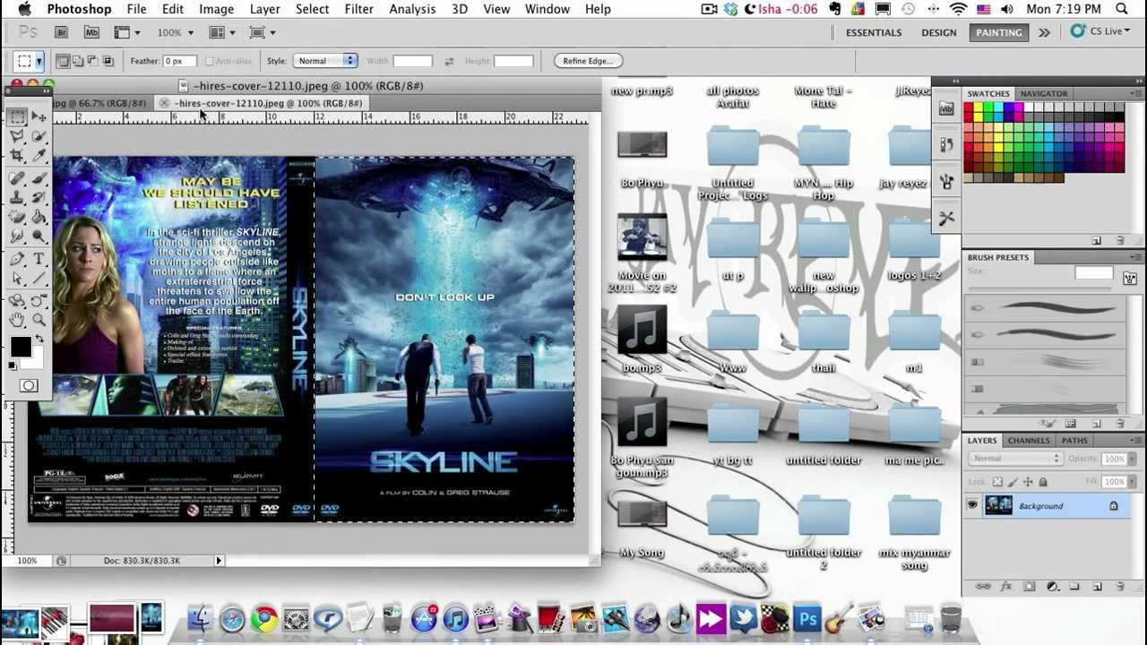 How To Make You Blue Ray Dvd Cover In Photoshop Youtube