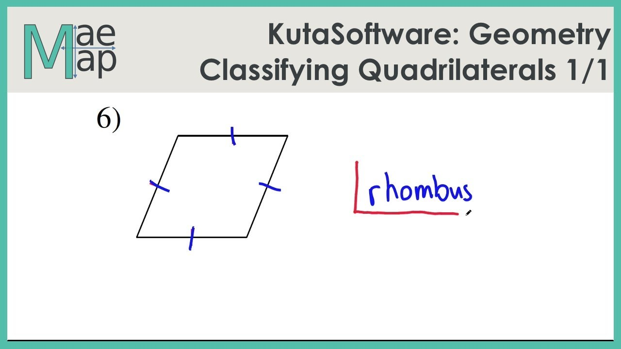 Worksheets Classify Quadrilaterals Worksheet kutasoftware geometry classifying quadrilaterals youtube quadrilaterals