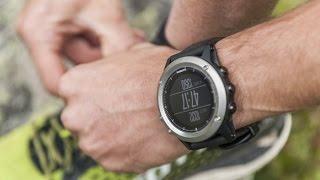 видео Спортивные часы Garmin Fenix 3 HR серебряный с титановым браслетом