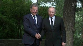 Владимир Путин и Саули Ниинисте на переговорах обсудили вопросы сотрудничества России и Финляндии.