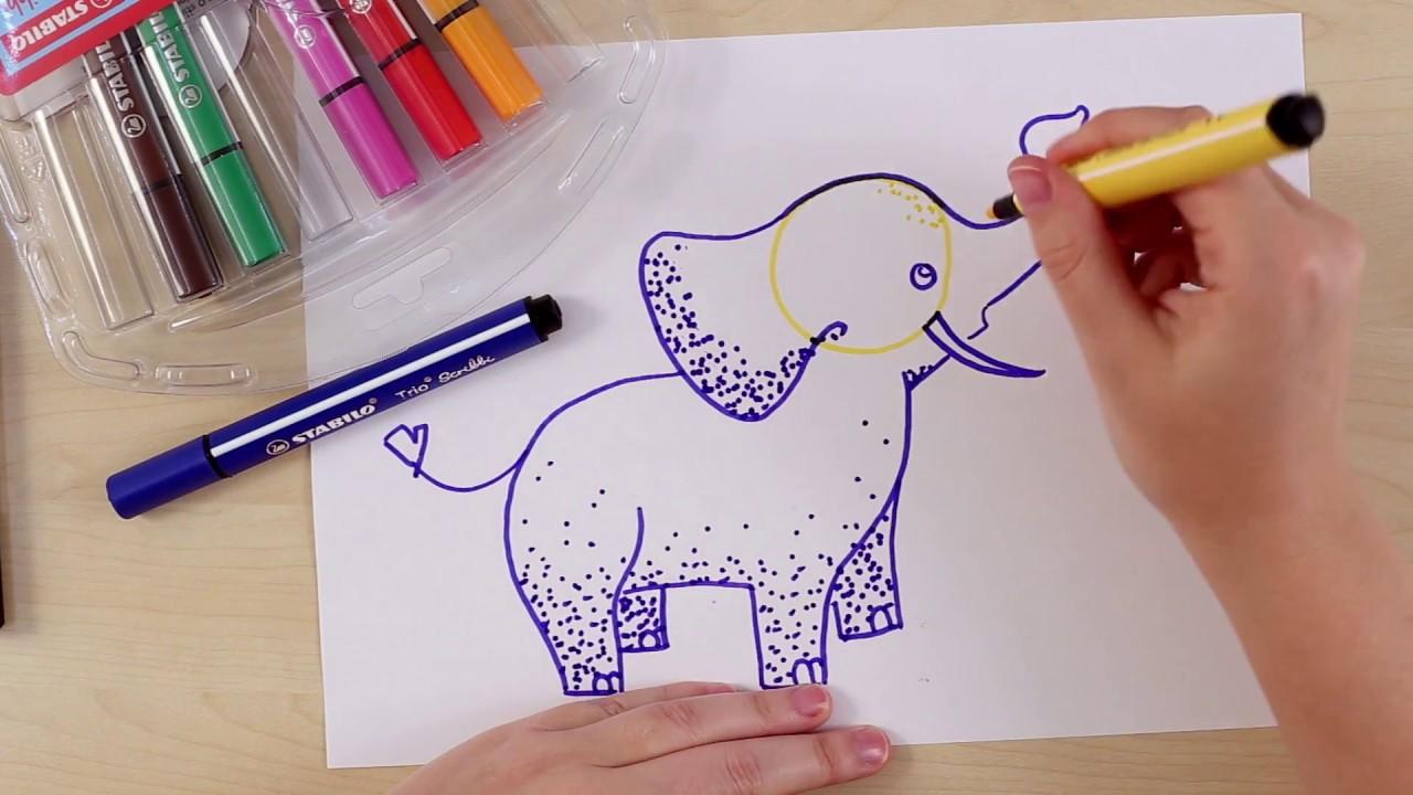 Hoe teken je een olifant stabilo tekentutorials gemiddeld youtube - Hoe sluit je een pergola ...
