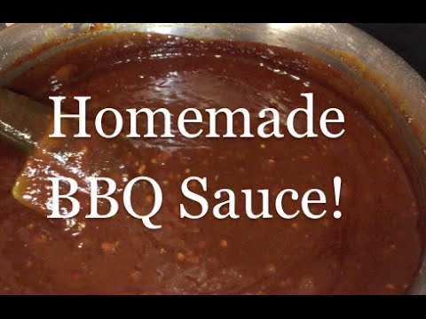 Homemade barbecue sauce ketchup honey