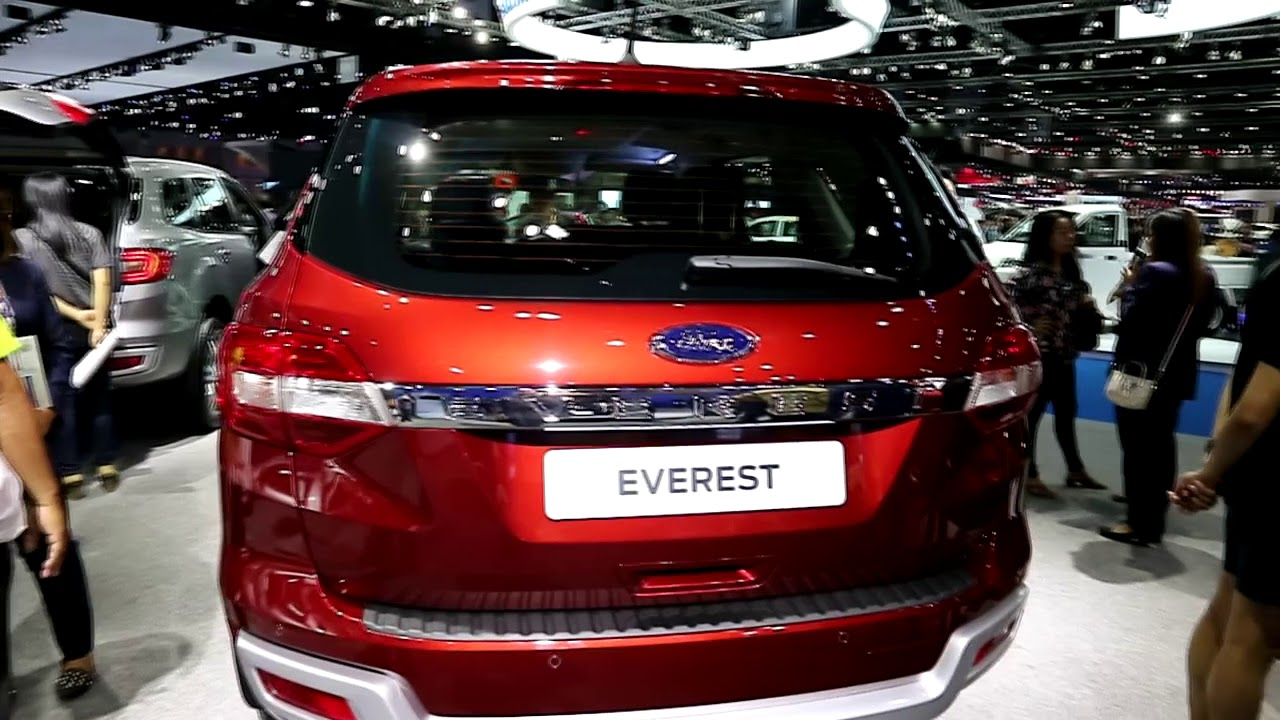 Ford Everest 2018 Red Colour Exterior And Interior