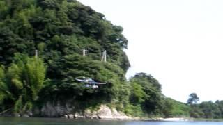 零式三座水上偵察機の離着水1