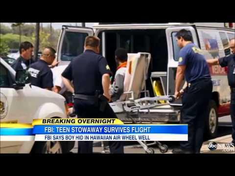 California teen survives flight to Hawaii in jet's wheel well
