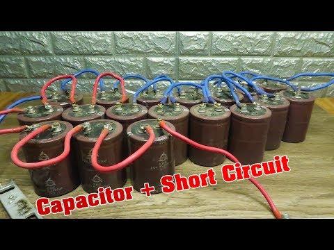 Experiment:  Capacitor + Short Circuit