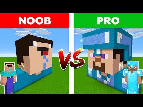 Minecraft NOOB Vs PRO: PRO HOUSE Vs NOOB HOUSE In Minecraft!