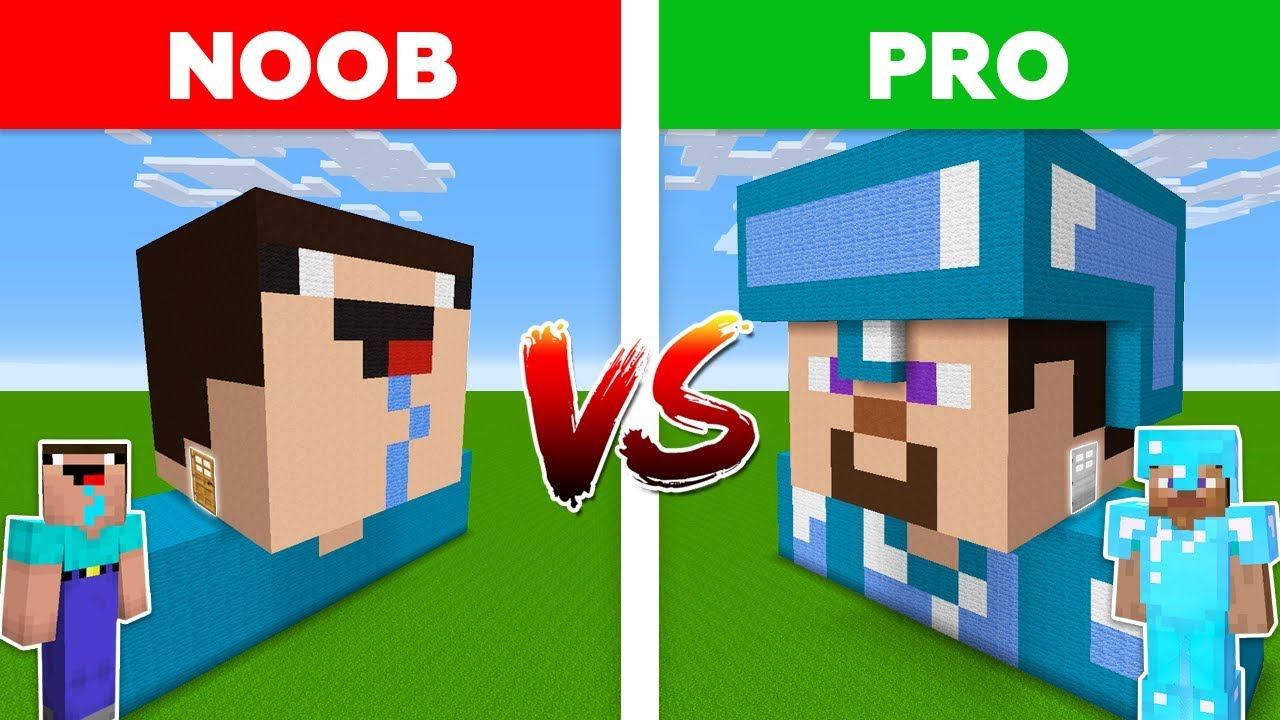 Minecraft Noob Vs Pro Diamond Pro House Vs Noob House Battle In Minecraft