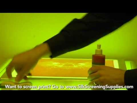 How to Screen Print - Red coat blockout - Detailed instruction - Screen Printing 101 DVD pt 22