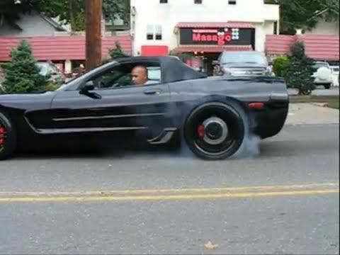 My C5 Z06 Black Corvette Burnout - OBX Exhaust