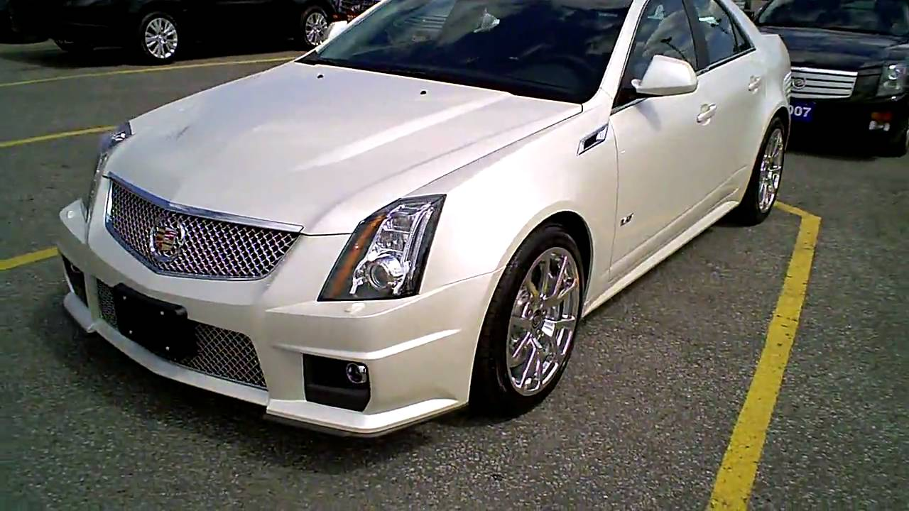 2011 White Diamond Cadillac Cts V Sedan Walk Around Youtube