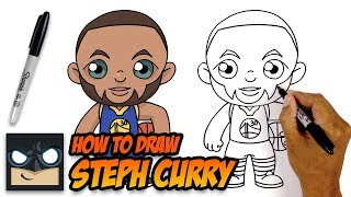 How to Draw Steph Curry | Golden State Warriors