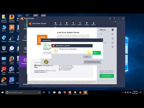 how to activate avast driver updater