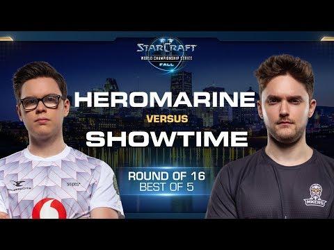 ShoWTimE vs HeRoMaRinE PvT - Round of 16 - WCS Fall 2019 - StarCraft II