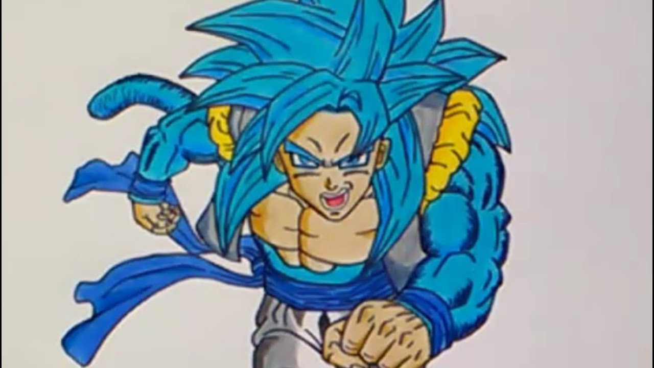 Cómo Dibujar A Gogeta Ssj 4 Dios Azul How To Draw Gogeta Ssj 4 God Blue Dragon Ball Super Gt