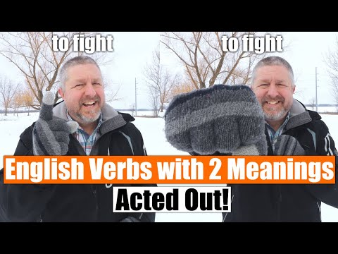 Learn 10 English Verbs with 2 Meanings in Under 8 Minutes! Acted Out For Easy Memorization!