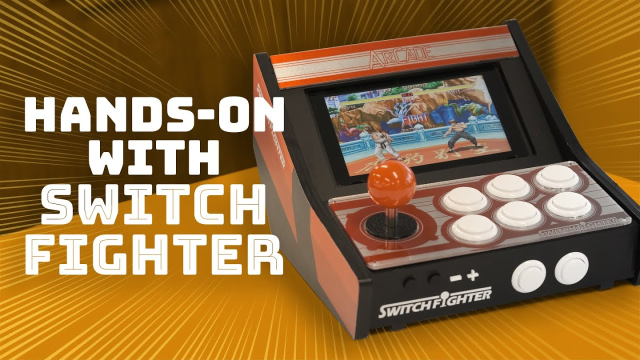 Turn your Nintendo Switch into a mini arcade cabinet! Hands-on with Switch Fighter!