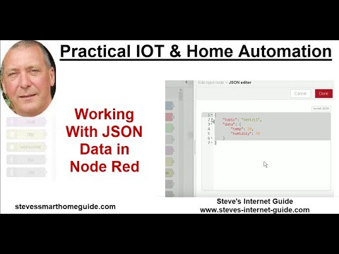 Working With JSON Data in Node Red
