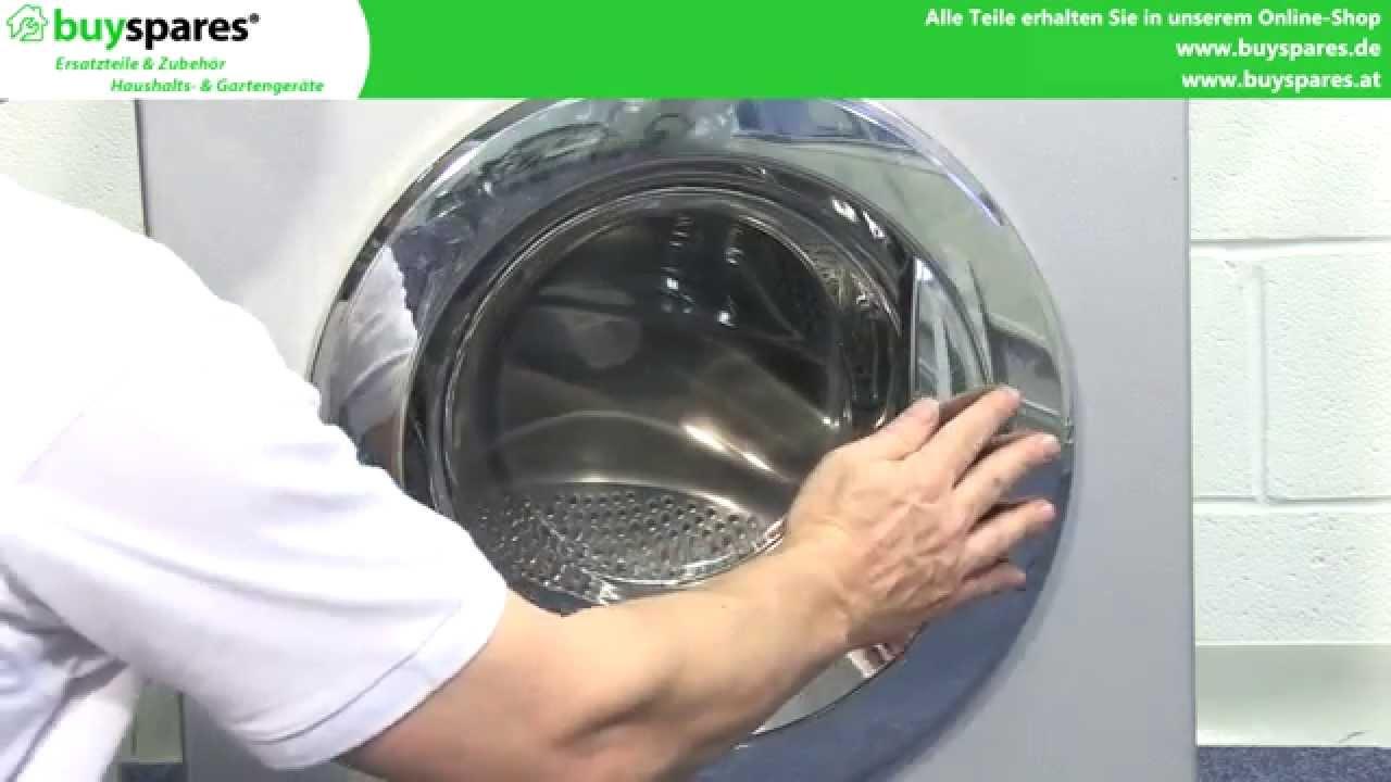 anleitung kaputten waschmaschinen griff wechseln youtube