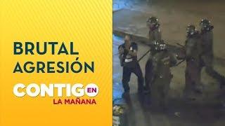 [VIDEO] Fuerzas especiales golpearon a manifestante en Ñuñoa - Contigo en La Mañana