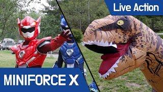 [MiniForceX] Live Action - MiniforceX VS Tyrannosaurs