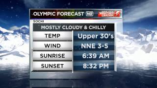 WHAG High Definition: Sochi Olympics 2014 Current Conditions Graphic