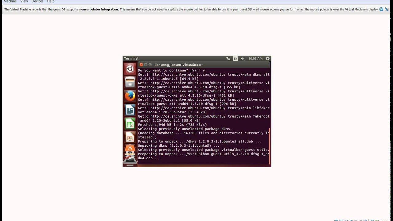 Increase Ubuntu desktop size in Virtual Box in Windows 7 via installing dkms