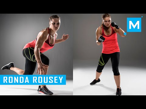 Ronda Rousey Conditioning Training & Pad Work | Muscle Madness