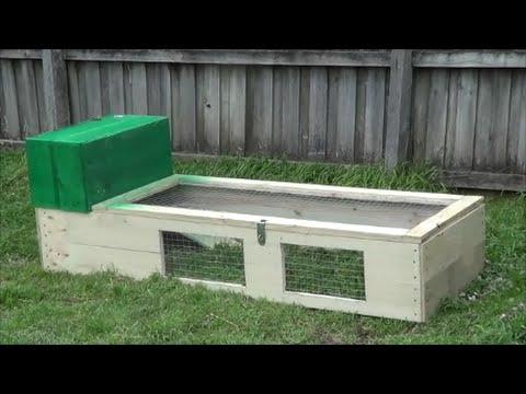Cheap D I Y Rabbit Guinea Pig Hutch Run Youtube