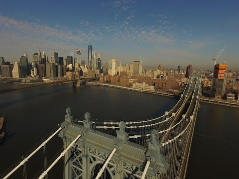 Drone Video: Over The Manhattan Bridge