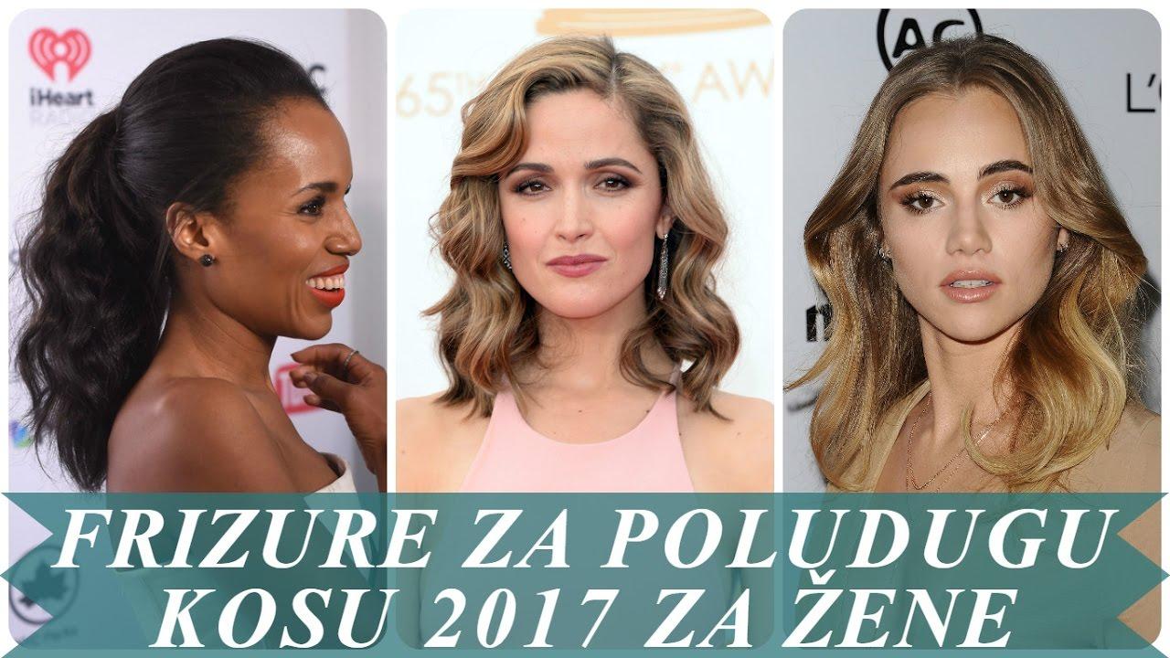Najmodernije frizure za poludugu kosu 2017 za žene - YouTube