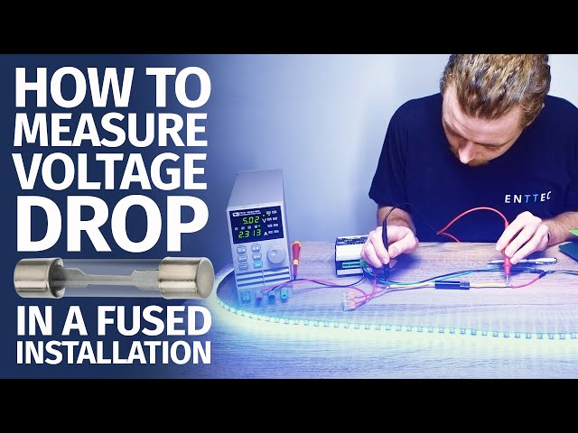 How to measure voltage drop in a fused installation