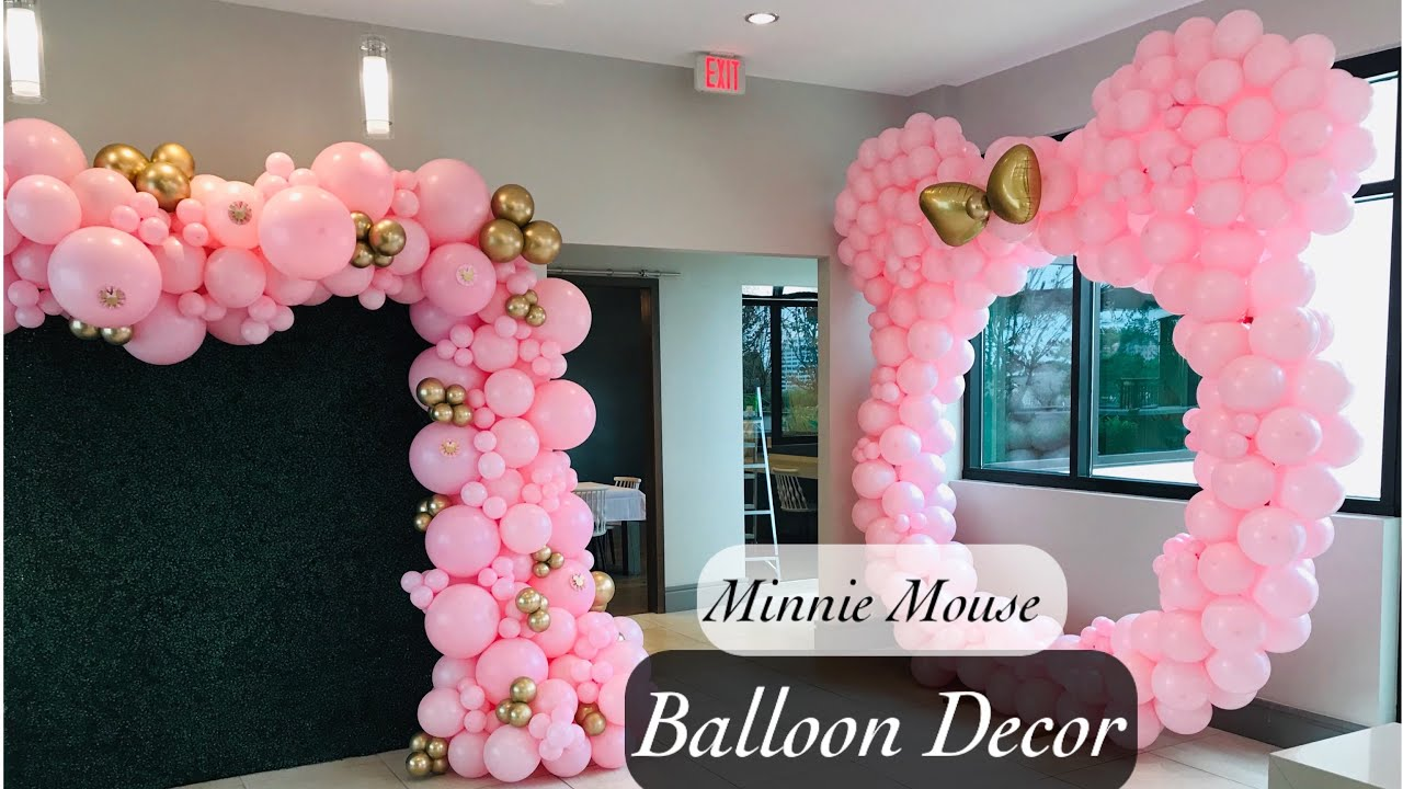 Minnie Mouse Balloon Garland And Hoop Tutorial Lesson Learned