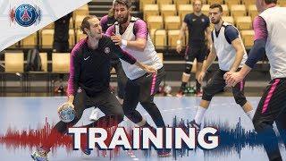 L'entraînement à Skjern