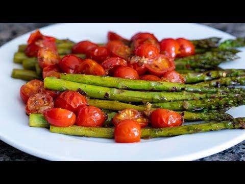 Sautéed Asparagus With Cherry Tomatoes