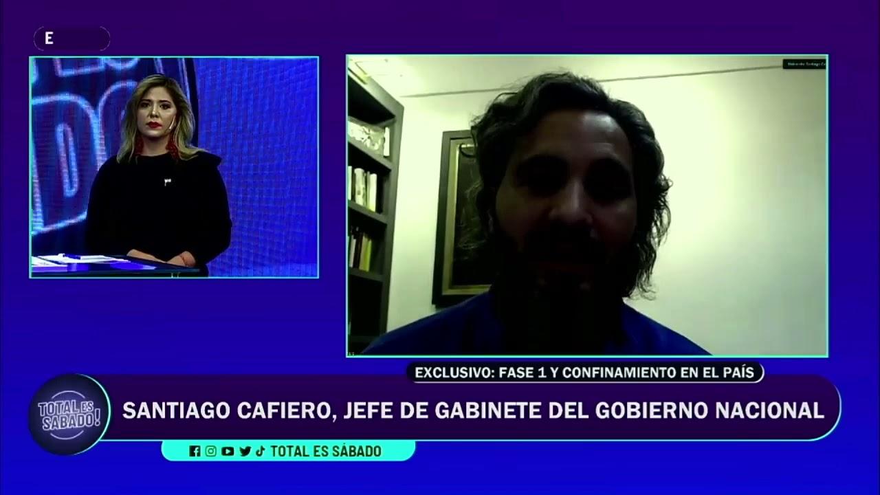 """Entrevista al Jefe de Gabinete, Santiago Cafiero:""""Las restricciones son hasta el 11 de junio"""""""