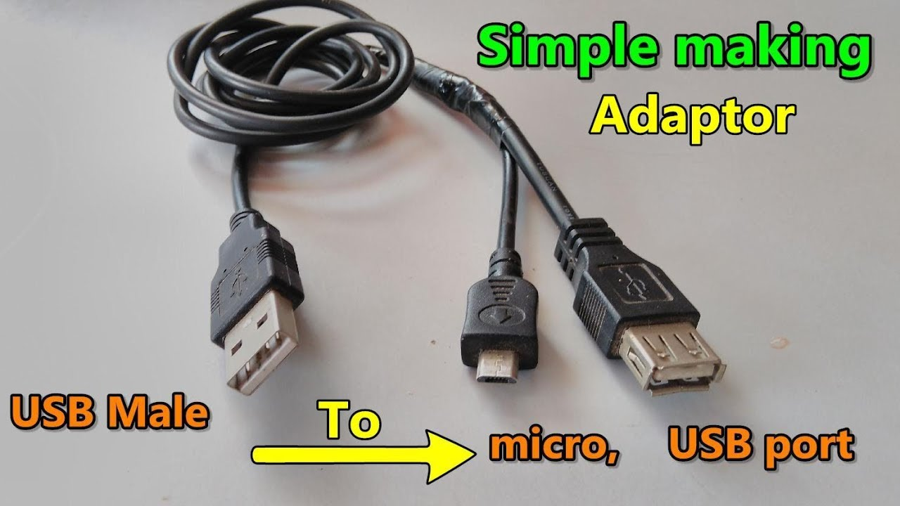 USB data cable convert to OTG and Miro USB adaptor making