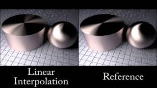 Displacement Interpolation Using Lagrangian Mass Transport