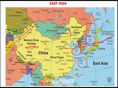 A Map Of East Asia.East Asia Map For Upsc Ssc