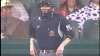 阪神タイガース 2009年5月24日 びびる審判 thumbnail
