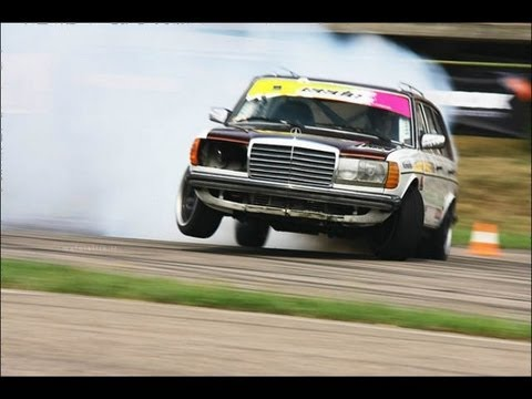 legendary diesel mercedes w123 + scania turbine @ eastern european