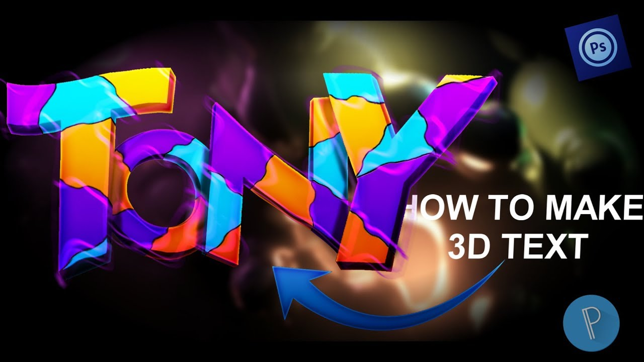 How to make 3D Text Tutorial (PhotoShop Touch)