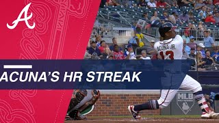 Ronald Acuna Jr. homers in 4 straight games